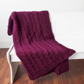 Snowberry Cables Afghan