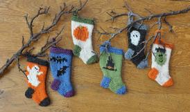 Halloween Stocking Ornament Set