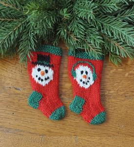 Snowman Pair Stocking Ornaments