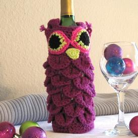 Owl Drink to That Wine Bag