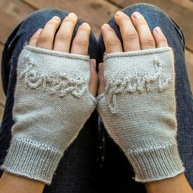 Knit and Purl Hand Mitts