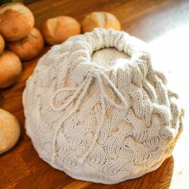 Cabled Braid Bread Warmer