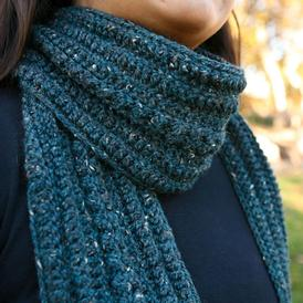Rain on the Cobblestones Scarf Pattern