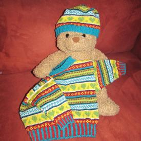 In Loving Color Baby Sweater and Hat