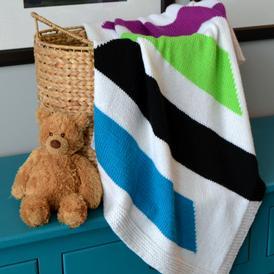 Modern Stripes Baby Blanket