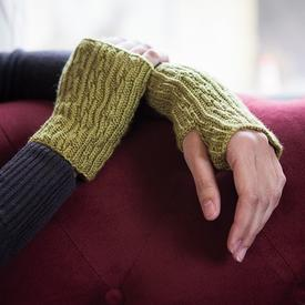 Kettenglied Fingerless Mitts