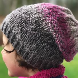 Textured Chevron Hat
