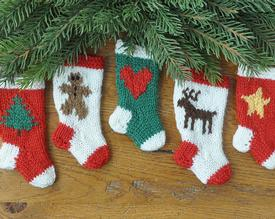 Whimsical Holiday Christmas Stocking Ornaments