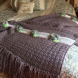 Cabbage Rose Afghan