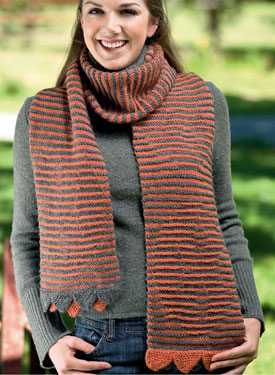 Hidden Cat Scarf Pattern