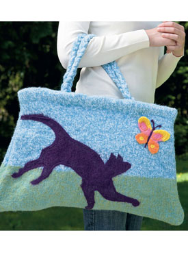 Felted Cat Pet Bag Pattern