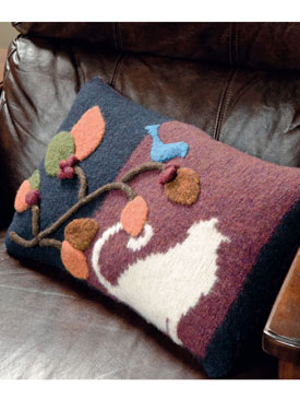 Felted Applique Pillow Pattern
