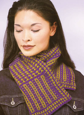 Bow Knot Scarf - Free Knitting Pattern: