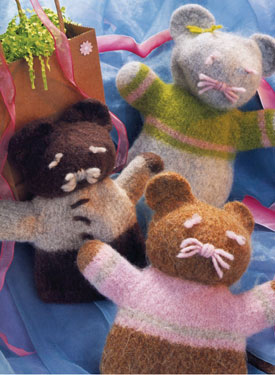 Felted Friends Hand Puppet Pattern