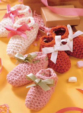 Crocheted Booties Pattern