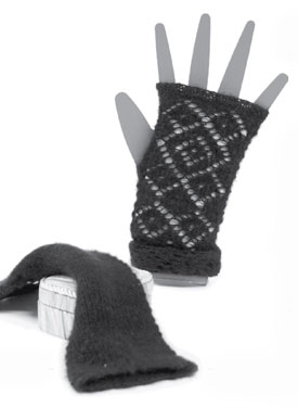 Double Diamond Fingerless Gloves Pattern
