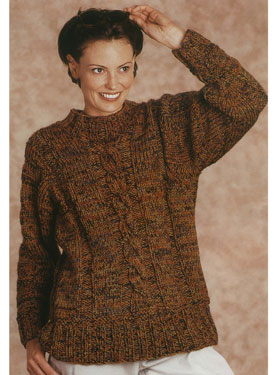 Center Cable Pullover Pattern