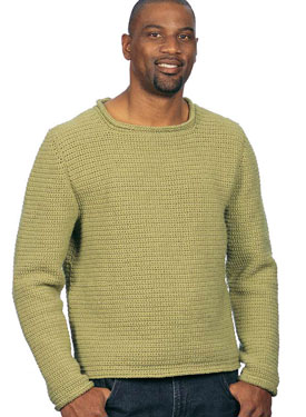 Comforolled Crocheted Pullover Pattern