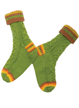 Cable Guy Socks Pattern