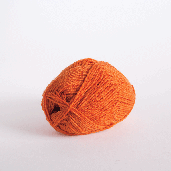 Orange in Wool of the Andes Sport Yarn
