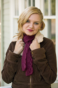 Rib and Cable Quartet (Single Cable) Scarf Pattern