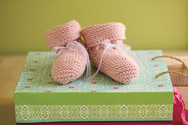 Be-Ribboned Booties Pattern