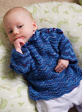 Blue Wave Baby Sweater Pattern