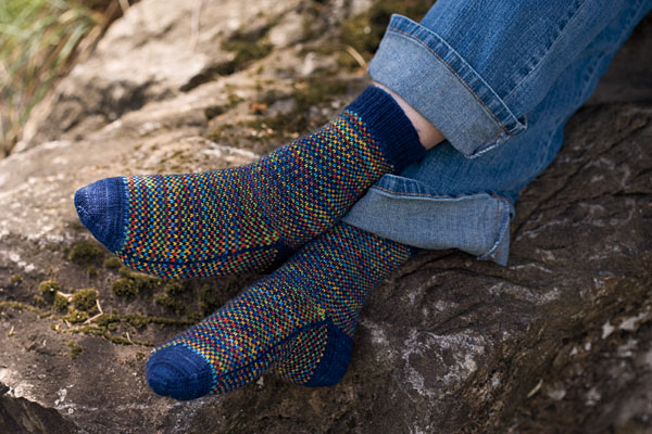 Spot Check Socks Pattern