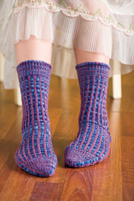 Corrugated Stripe Socks Pattern