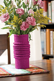 Pleated Vase Sleeve