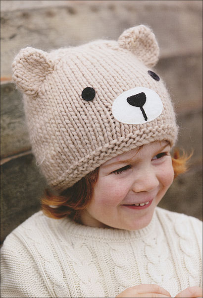 Animal Hat Knitting Patterns : Knitted Animal Hats from KnitPicks.com Knitting by Fiona Goble