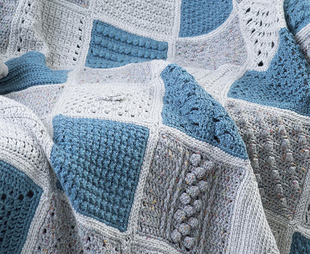 63 Easy-To-Crochet Pattern Stitches Combine to Make an Heirloom Afghan ...