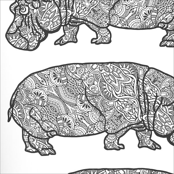 Zen Animal Coloring Book