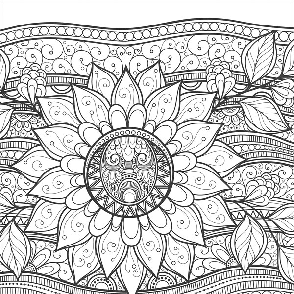 Coloring Pages For Zen : Zen Coloring: Flowers from KnitPicks.com Knitting by Guild of Master Craftsman On Sale