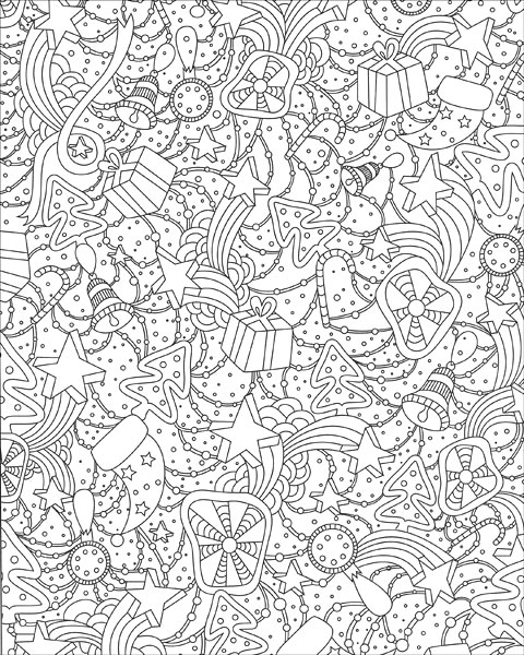 winter theme coloring pages - zen coloring winter wonderland from