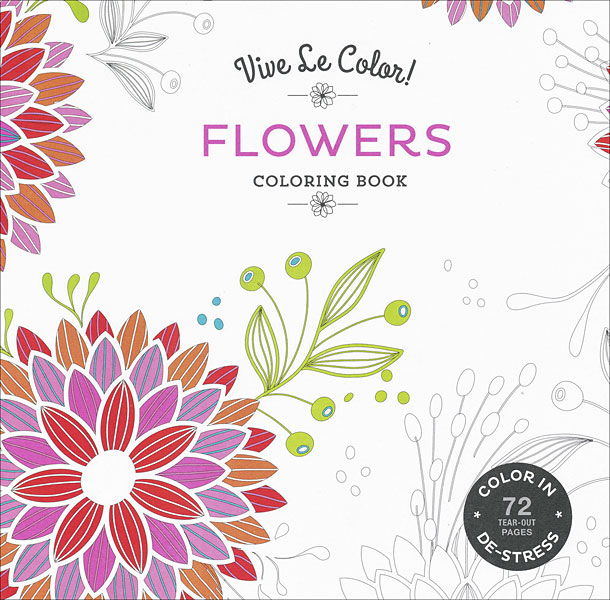 Vive Le Color! Flowers Coloring Book