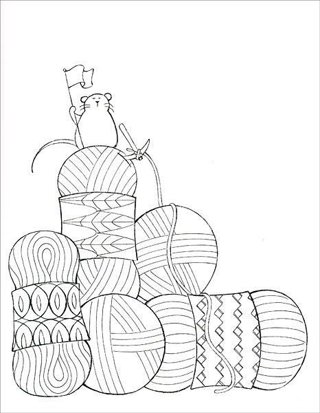 yarn coloring printable - 466×600