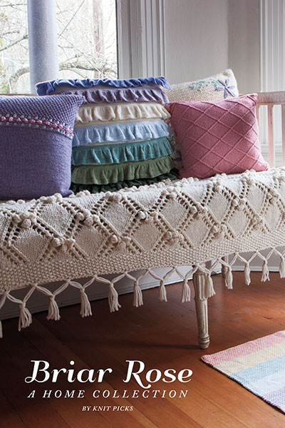 Knit Home Decor Patterns - Briar Rose Collection from knitpicks.com