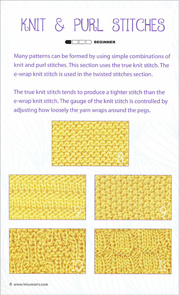 Knitting Stitches Dictionary Free : Loom Knit Stitch Dictionary from KnitPicks.com Knitting by Kathy Norris