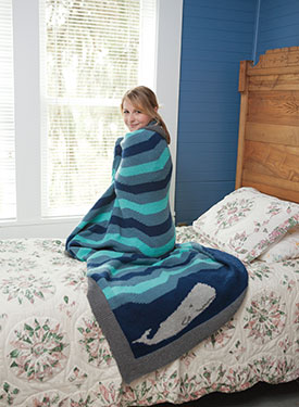 Happy Place Afghan - Ocean Pattern