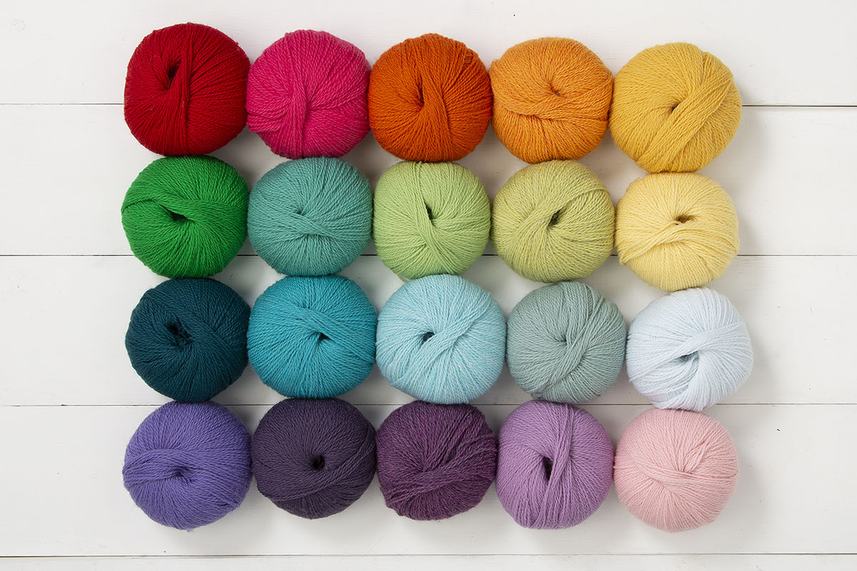 The Candy Rainbow Palette Yarn Sampler