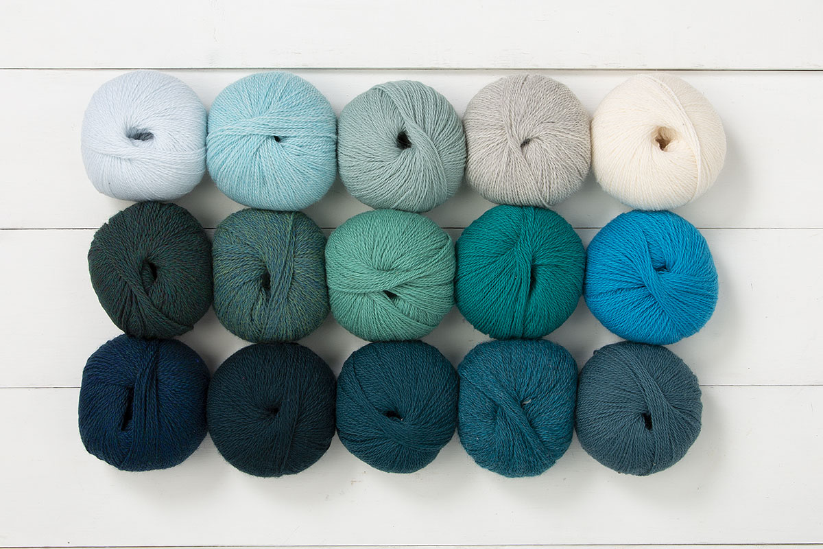 The Aegean Sea Palette Yarn Sampler