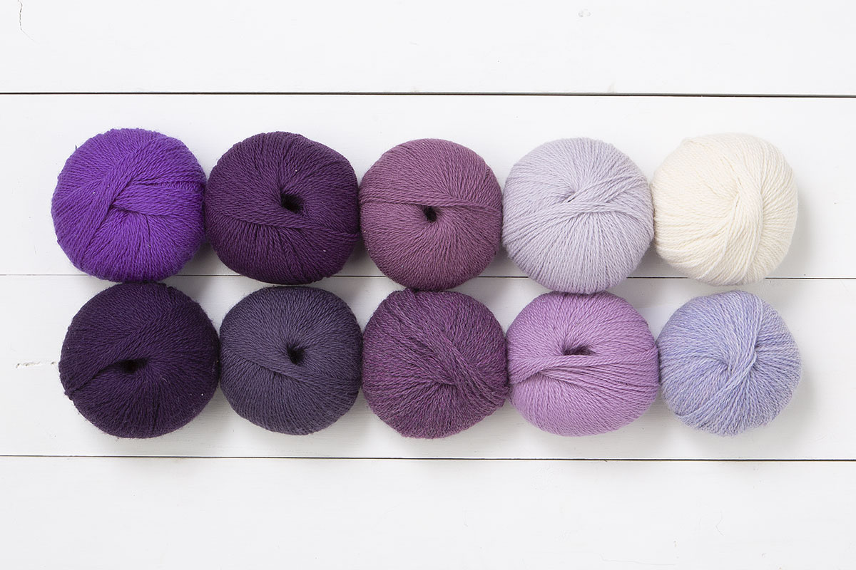 The Velvet Glove Palette Yarn Sampler