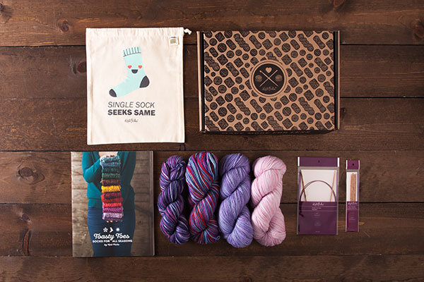Hand Painted Socks Boxed Kit - Meadow