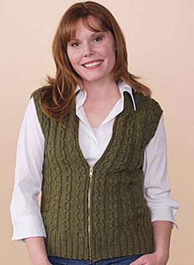 Slipped Cable Vest Pattern