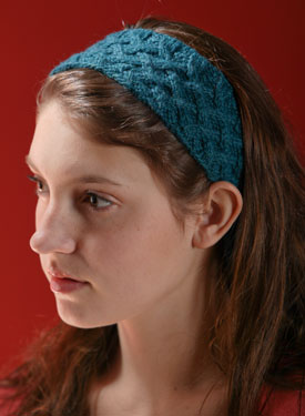 Lattice Cable Headband Pattern