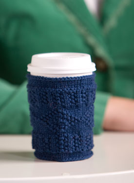 Free Knitting Pattern Coffee Cup Sleeve : Cup Cozy Pattern - Knitting Patterns and Crochet Patterns from KnitPicks.com