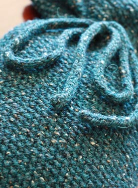 Quick Seed Stitch Hot Water Bottle Cover Pattern