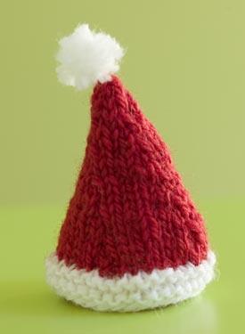 Knitting Patterns For Small Hats : Santa Hat Pattern - Knitting Patterns and Crochet Patterns from KnitPicks.com