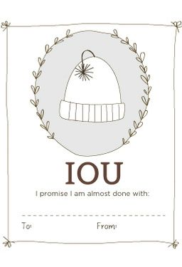 IOU Labels - Printable Download